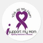 Alzheimers Disease I Support My Mum Round Sticker