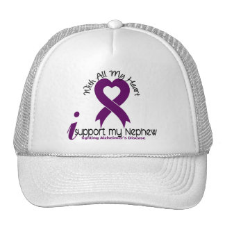 Alzheimers Disease I Support My Nephew Hats