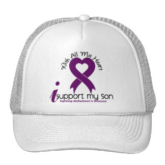 Alzheimers Disease I Support My Son Trucker Hats