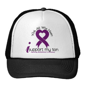 Alzheimers Disease I Support My Son Trucker Hat