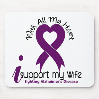 Alzheimers Disease I Support My Wife Mouse Mats