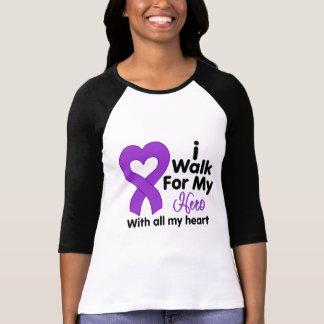 Alzheimer's Disease I Walk For My Hero T Shirt
