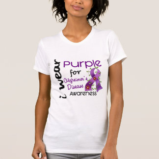 Alzheimers Disease I Wear Purple For Awareness 43 Tees