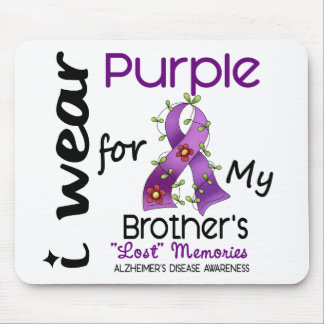 Alzheimers Disease I Wear Purple For My Brother 43 Mouse Pad