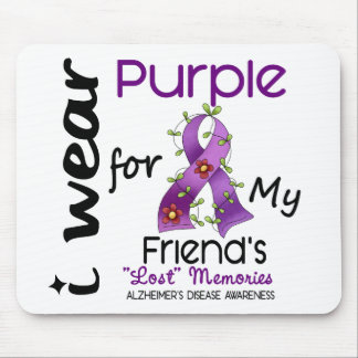 Alzheimers Disease I Wear Purple For My Friend 43 Mouse Pad