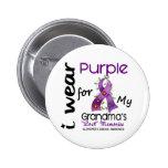 Alzheimers Disease I Wear Purple For My Grandma 43 6 Cm Round Badge
