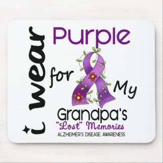 Alzheimers Disease I Wear Purple For My Grandpa 43 Mouse Pad