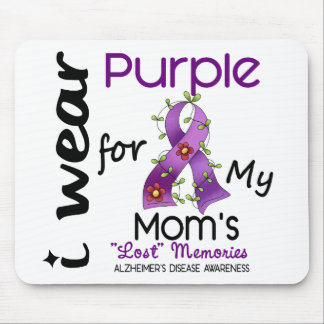 Alzheimers Disease I Wear Purple For My Mom 43 Mouse Mat