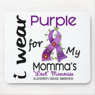 Alzheimers Disease I Wear Purple For My Momma 43 Mouse Mats