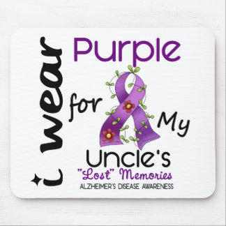 Alzheimers Disease I Wear Purple For My Uncle 43 Mouse Mat