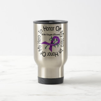 Alzheimers Disease In Honor Of My Hero Stainless Steel Travel Mug