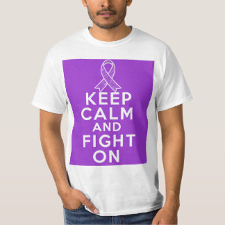 Alzheimers Disease Keep Calm and Fight On T-Shirt