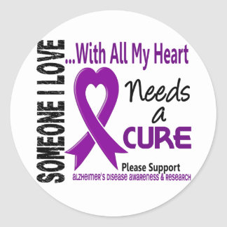 Alzheimers Disease Needs A Cure 3 Round Stickers