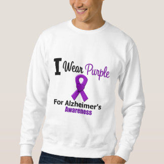 Alzheimer's Disease Purple Ribbon Awareness Sweatshirt