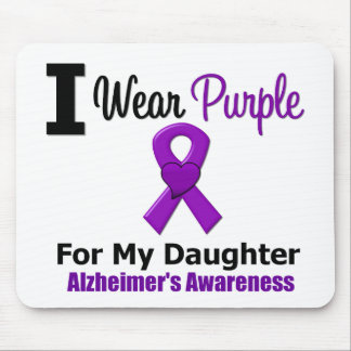 Alzheimer's Disease Purple Ribbon For My Daughter Mouse Pad