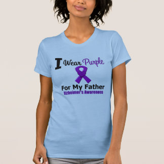 Alzheimer's Disease Purple Ribbon For My Father T-Shirt