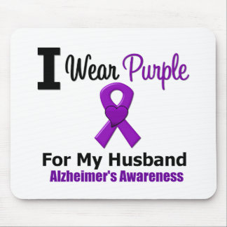 Alzheimer's Disease Purple Ribbon For My Husband Mouse Pad