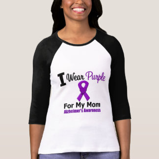 Alzheimer's Disease Purple Ribbon For My Mom T-Shirt