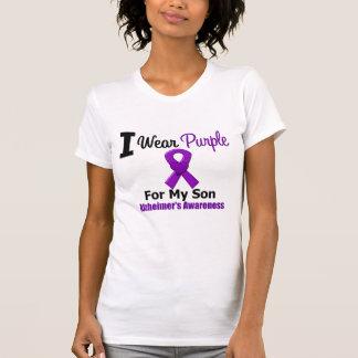 Alzheimer's Disease Purple Ribbon Son Tees
