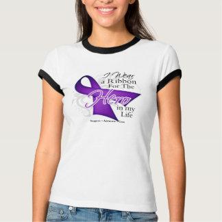 Alzheimers Disease Ribbon Hero in My Life Tee Shirt
