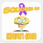 Alzheimer's Disease Square Sticker