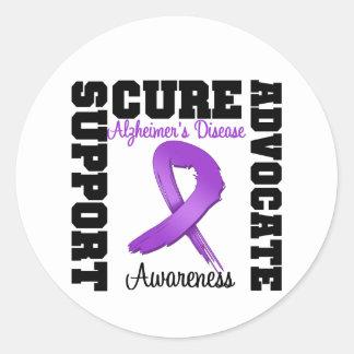 Alzheimer's Disease Support Advocate Cure Round Sticker