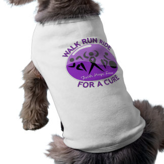 Alzheimer's Disease Walk Run Ride For A Cure Sleeveless Dog Shirt