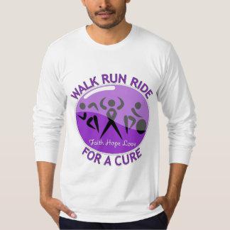 Alzheimer's Disease Walk Run Ride For A Cure T Shirt