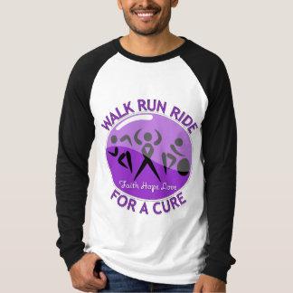 Alzheimer's Disease Walk Run Ride For A Cure Tshirt