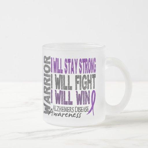Alzheimer's Disease Warrior Coffee Mugs