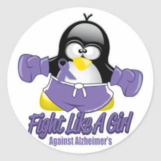 Alzheimers Fighting Penguin Sticker