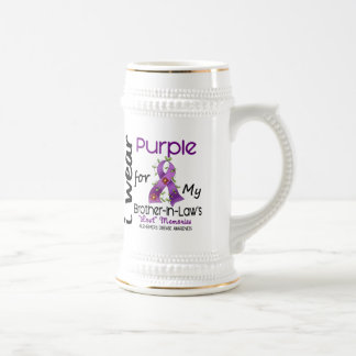 Alzheimers I Wear Purple For My Brother-In-Law 43 Beer Stein