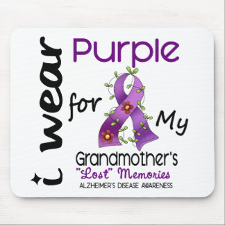 Alzheimers I Wear Purple For My Grandmother Mouse Mat