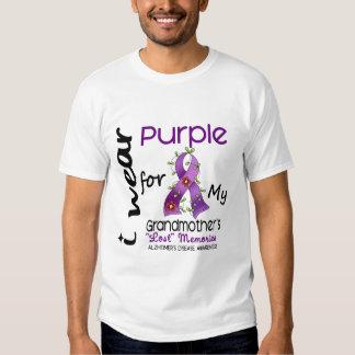 Alzheimers I Wear Purple For My Grandmother Tshirt