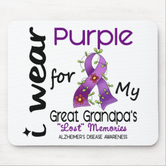 Alzheimers I Wear Purple For My Great Grandpa Mouse Pads