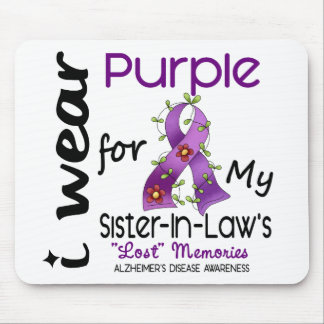Alzheimers I Wear Purple For My Sister-In-Law Mouse Pad