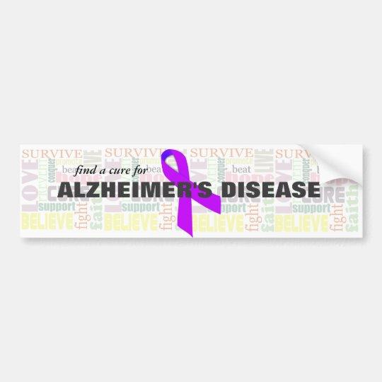 Alzheimer's Inspirational Words Bumper Sticker