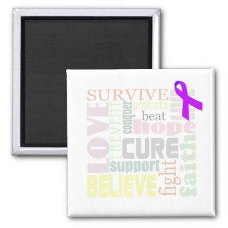 Alzheimer's Inspirational Words Refrigerator Magnet