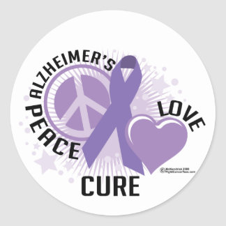 Alzheimers PLC Round Sticker