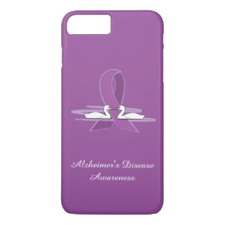 Alzheimer's Purple Awareness Ribbon with Swans iPhone 7 Plus Case