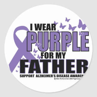 Alzheimers Purple For FATHER Stickers