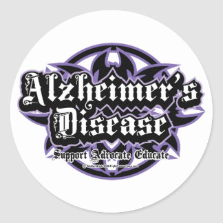 Alzheimers Tribal Round Stickers