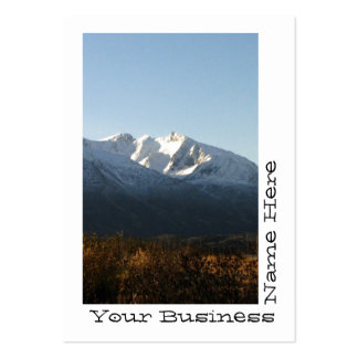 AM Alaskan Mountains Pack Of Chubby Business Cards