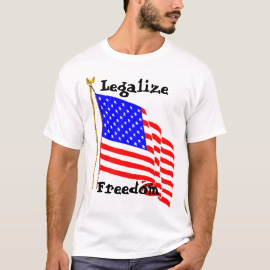 AM Flag PNG, Legalise Freedom T-Shirt