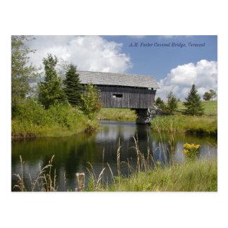AM Foster Bridge in Vermont Postcard