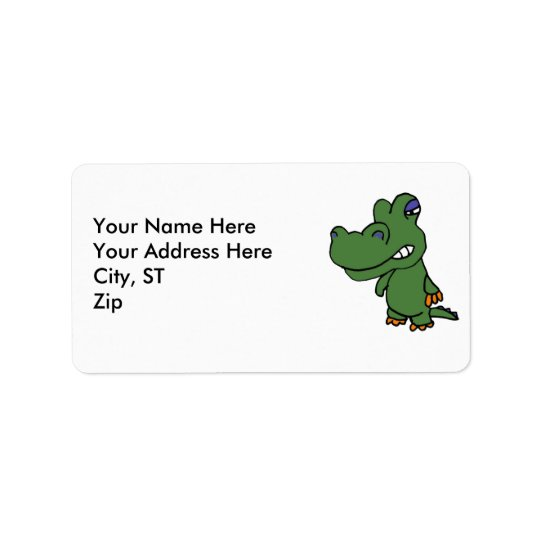 AM- Funny Gator Address Labels