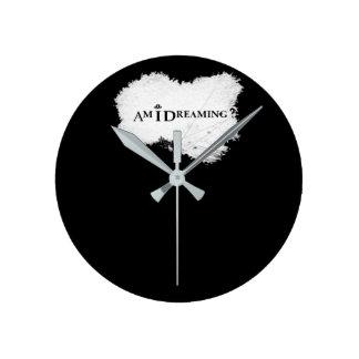 Am I Dreaming Round Clock Black