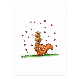 am nuts about you -humorous - Valentine's Day Gift Postcard