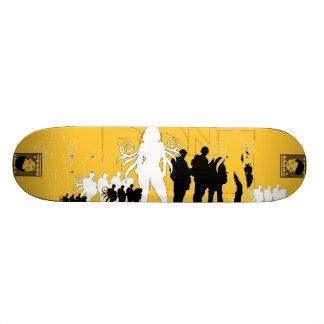 AM Radio Bone Skate Board Deck