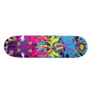 """AM Radio """"Skulls & Mics"""" Custom Skate Board"""